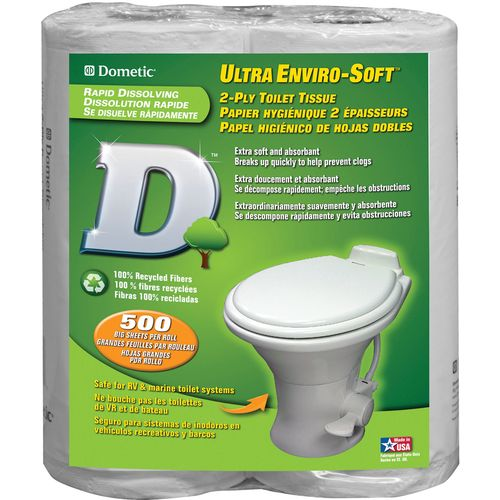Display product reviews for Dometic D-Line Ultra Enviro-Soft 2-Ply Toilet Tissue 4-Pack