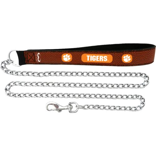 GameWear Clemson University Football Leather 2.5 mm Chain Leash