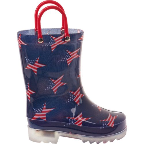 Austin Trading Co.™ Kids' Stars and Stripes Light-Up Rubber Boots