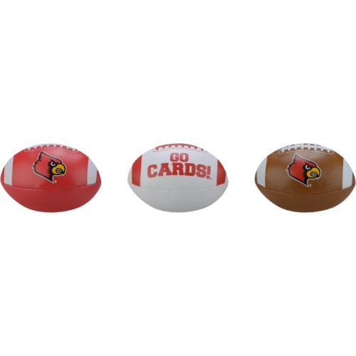 Rawlings® Boys' University of Louisville 3rd Down Softee 3-Ball Football Set - view number 2