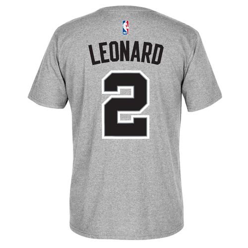 adidas Men's San Antonio Spurs Kawhi Leonard No. 2 7 Series Name and Number T-shirt