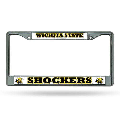Rico Wichita State University Chrome License Plate Frame