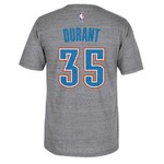 adidas Men's Oklahoma City Thunder Kevin Durant #35 Distressed T-shirt