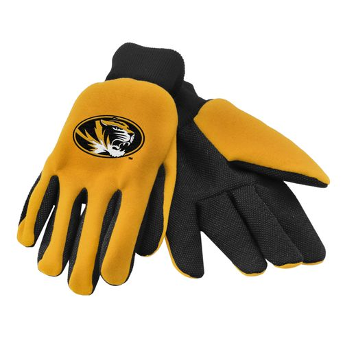 Team Beans Adults' University of Missouri 2-Color Utility Gloves
