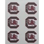 Stockdale University of South Carolina Face Decals 6-Pack - view number 1