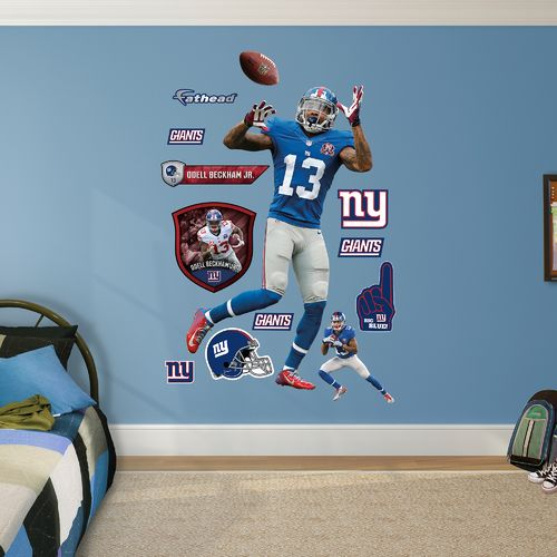 Fathead New York Giants Odell Beckham Jr. Catch Real Big Wall Decal - view number 1