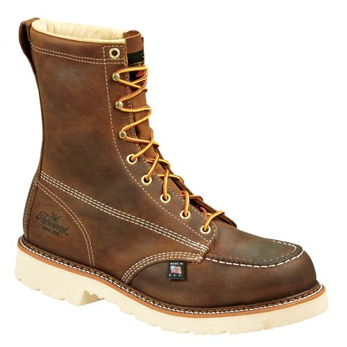 "Thorogood Shoes Men's American Heritage Job Pro 8"" Moc Toe Safety Toe Work Boots"