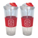 Boelter Brands North Carolina State University 22 oz. No-Spill Straw Tumblers 2-Pack