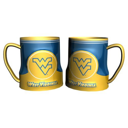 Boelter Brands West Virginia University Gametime 18 oz. Mugs 2-Pack