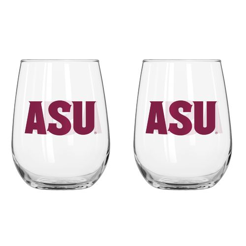 Boelter Brands Arizona State University 16 oz. Curved Beverage Glasses 2-Pack