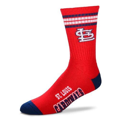 For Bare Feet Adults' St. Louis Cardinals 4-Stripe Deuce Socks