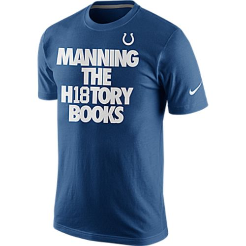 Nike Men's Indianapolis Colts Manning The History Books T-shirt