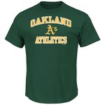 Majestic Men's Oakland Athletics Heart and Soul T-shirt - view number 1