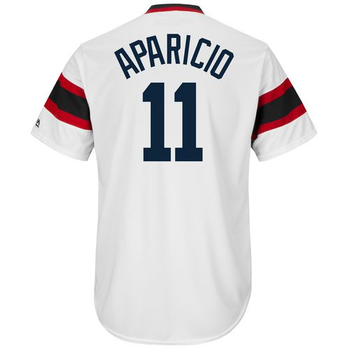 Majestic Men's Chicago White Sox Luis Aparicio #11 Cooperstown Cool Base 1981-85 Replica Jersey