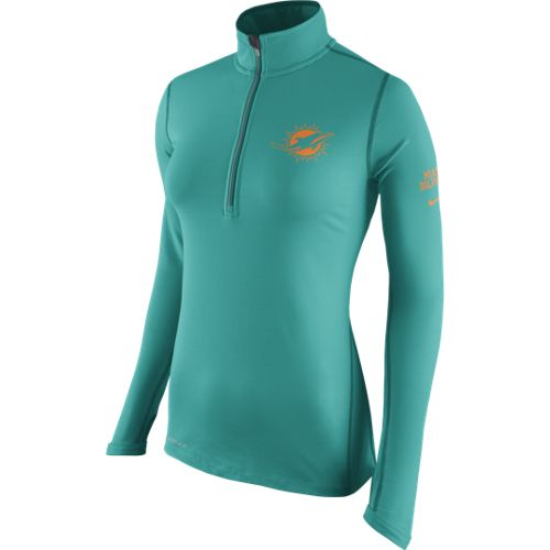Nike Women's Miami Dolphins Tailgate Element 1/2 Zip Top - view number 1