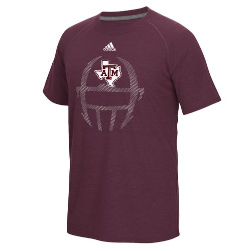 adidas™ Men's Texas A&M University Sideline Helmet Dot T-shirt