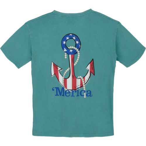 Royce Juniors' Americana Anchor Stars & Stripes T-shirt
