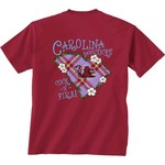 New World Graphics Women's University of South Carolina Bright Plaid T-shirt - view number 1