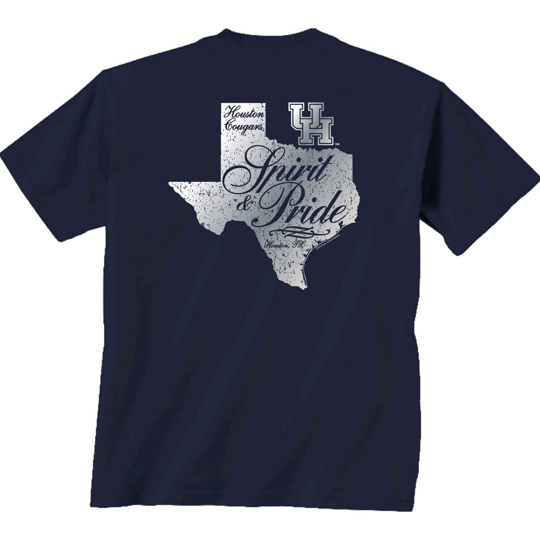 New World Graphics Women's University of Houston Silver State Distress T-shirt