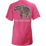 Three Squared Juniors' University of Alabama Preppy Paisley T-shirt