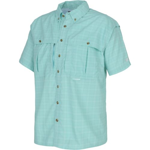 Drake Waterfowl Men's Wingshooter's Short Sleeve Plaid UPF 50 Sun Shirt