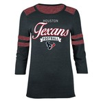 5th & Ocean Clothing Juniors' Houston Texans Script 3/4 Sleeve T-shirt