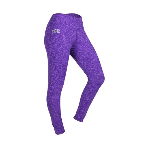 ZooZatz Women's Texas Christian University Space Dye Legging