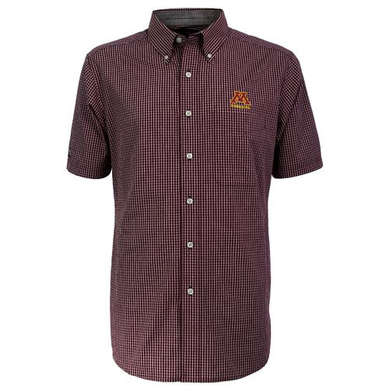 Antigua Men's University of Minnesota League Short Sleeve Shirt - view number 2