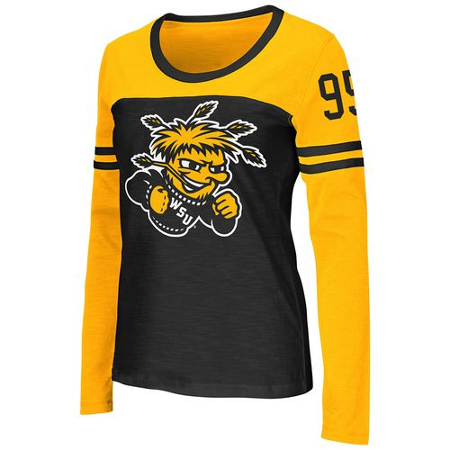 Colosseum Athletics™ Women's Wichita State University Hornet Football Long Sleeve Shirt