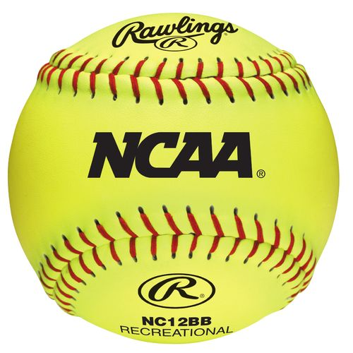 Rawlings Girls' 12 in Recreational Fast-Pitch Softballs 6-Pack - view number 1