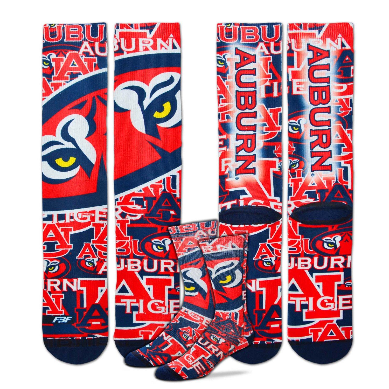 For Bare Feet Men's Auburn University Sublimated Socks