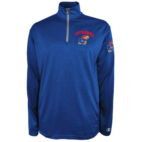Champion™ Men's University of Kansas Victory 1/4 Zip Pullover
