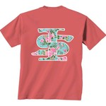 New World Graphics Women's Indiana State University Floral Short Sleeve T-shirt - view number 1