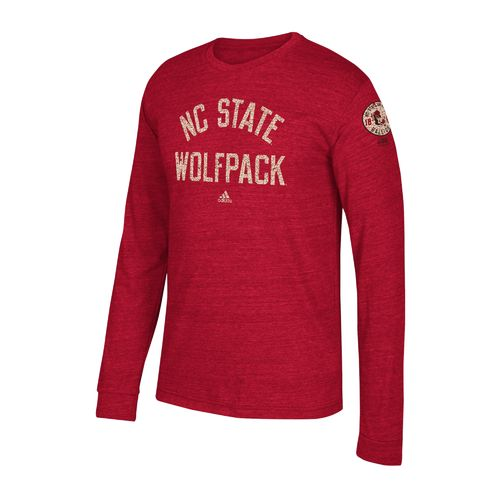 adidas Men's North Carolina State University Arched Heritage Long Sleeve T-shirt