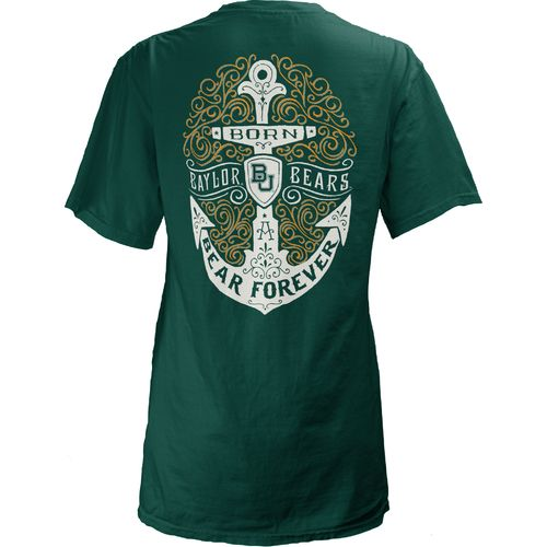 Three Squared Juniors' Baylor University Anchor Flourish V-neck T-shirt