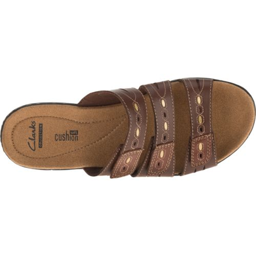 Clarks® Women's 3-Strap Adjustable Sandals - view number 4