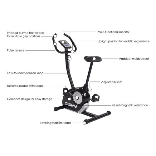 Stamina Magnetic Upright Exercise Bike - view number 9