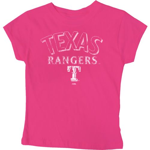 Stitches Girls' Texas Rangers City Arch T-shirt