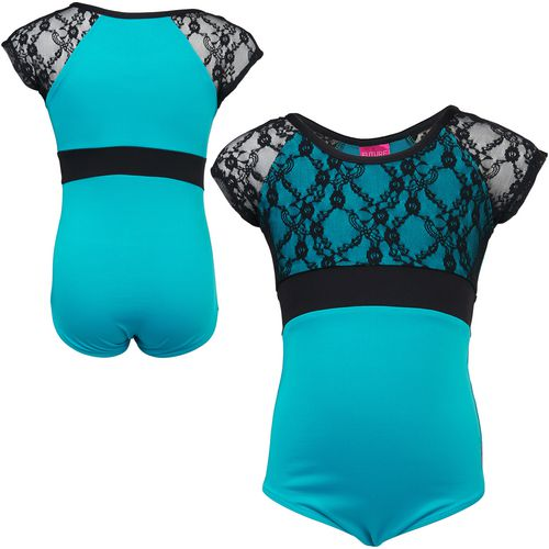 Capezio Girls' Future Star Short Sleeve Lace Leotard - view number 3