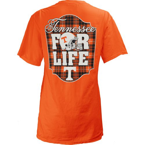 Three Squared Juniors' University of Tennessee Team For Life Short Sleeve V-neck T-shirt