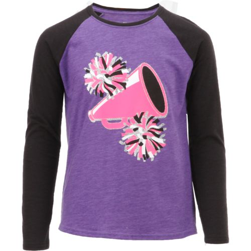 BCG Girls' Cheer Raglan Long Sleeve T-shirt - view number 1