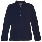 French Toast Girls' Plus Size Long Sleeve Stretch Pique Polo Shirt - view number 1