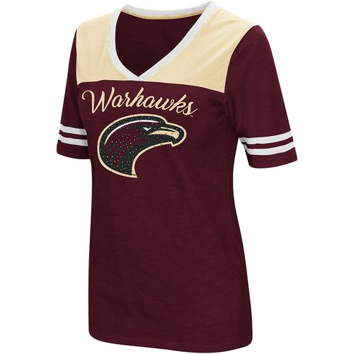Colosseum Athletics Women's University of Louisiana at Monroe Twist 2.1 V-Neck T-shirt