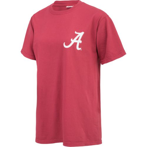 New World Graphics Women's University of Alabama Comfort Color Initial Pattern T-shirt