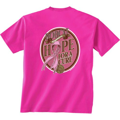 New World Graphics Women's Texas State University Breast Cancer Hope T-shirt