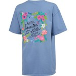 New World Graphics Women's Sam Houston State University Comfort Color Circle Flowers T-shirt - view number 2
