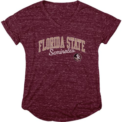 Blue 84 Women's Florida State University Dark Confetti V-neck T-shirt