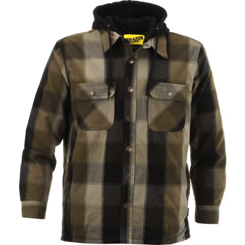 Display product reviews for Brazos Men's Blacksmith Hooded Flannel Shirt Jacket