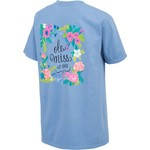 New World Graphics Women's University of Mississippi Comfort Color Circle Flowers T-shirt - view number 2