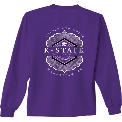 New World Graphics Women's Kansas State University Faux Pocket Long Sleeve T-shirt